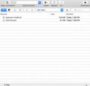 List of files in Cyberduck